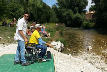 Inaugurata a Castel di Sangro piazzola per pescatori con disabilità