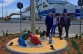Artista realizza rotatoria al porto di Palermo