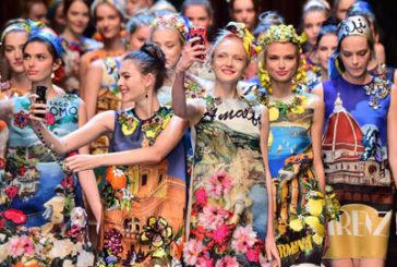 Il Lago di Como sugli abiti di Dolce & Gabbana