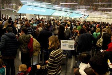 A Fiumicino picco di traffico per Natale: attesi oltre 1,8 mln di passeggeri
