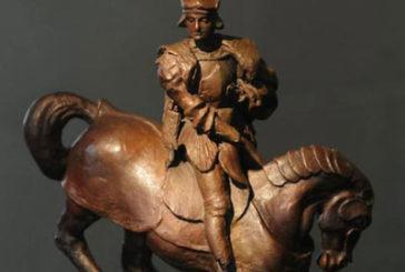 Scultura equestre attribuita a Leonardo all'Institut Français di Milano