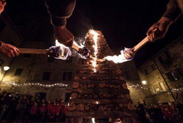 Ad Abbadia San Salvatore il Natale si festeggia con il fuoco