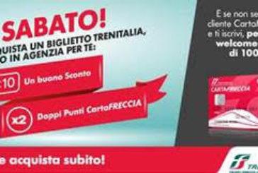 Trenitalia rilancia 'Sabato in agenzia': sconti per i clienti cartafreccia