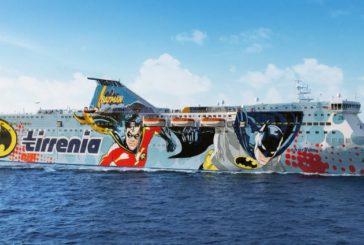 Tirrenia sigla accordo con Warner e i supereroi salgono a bordo