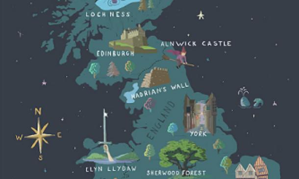 Immagini Della Cartina Della Gran Bretagna.Una Mappa Interattiva Per Scoprire I Luoghi Magici Del Regno Unito Travelnostop
