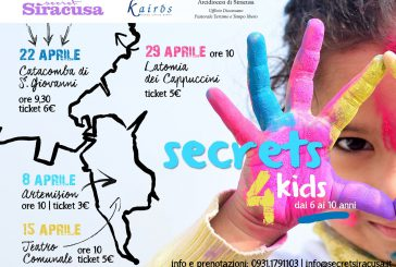 Siracusa apre le porte di 4 siti ai baby viaggiatori, ad aprile c'è Secrets4Kids