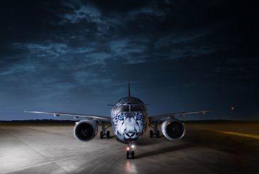 Atterra in Kazakistan primo Embraer E190-E2 di Air Astana con livrea 'Leopardo delle Nevi'