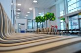 Nuovo look per l'Aeroporto di Cuneo, elementi di design sostenibile negli spazi interni