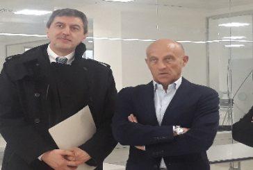 Il presidente Marsilio in visita all'aeroporto d'Abruzzo