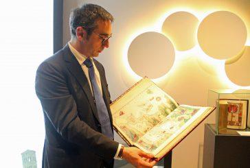 Mostra sui libri di Moliero nella lounge Star Alliance dell'aeroporto di Fiumicino