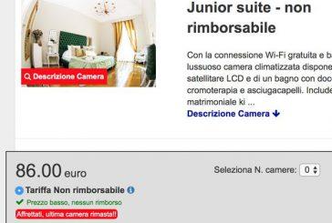 Il falso de 'l'ultima camera rimasta': Booking.com si difende