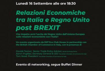 A settembre si parla di Brexit negli eventi di networking di DO7 Eco Club House