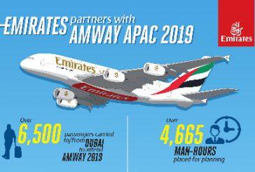 Emirates trasporterà oltre 6.500 pax a Dubai per il seminario 'Amway'