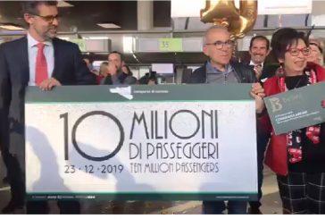 L'aeroporto di Catania taglia il traguardo dei 10 milioni di passeggeri nel 2019