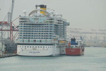Costa Smeralda fa il suo primo rifornimento di LNG a Barcellona