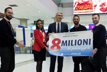 AdP supera gli 8 mln di passeggeri su Bari e Brindisi
