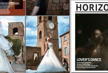 Le spose di Glen Couture scelgono Celleno e conquistano le pagine di Horizont Magazine