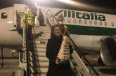 All'aeroporto di Palermo arriva la statua della Madonna di Loreto