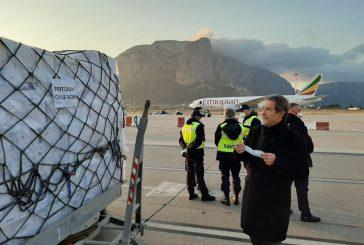 Atterrato a Palermo aereo Ethiopian Arilines con 40 tonnellate di dispositivi sanitari